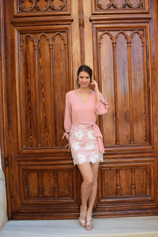 Vestido BYANA corto falda estampada