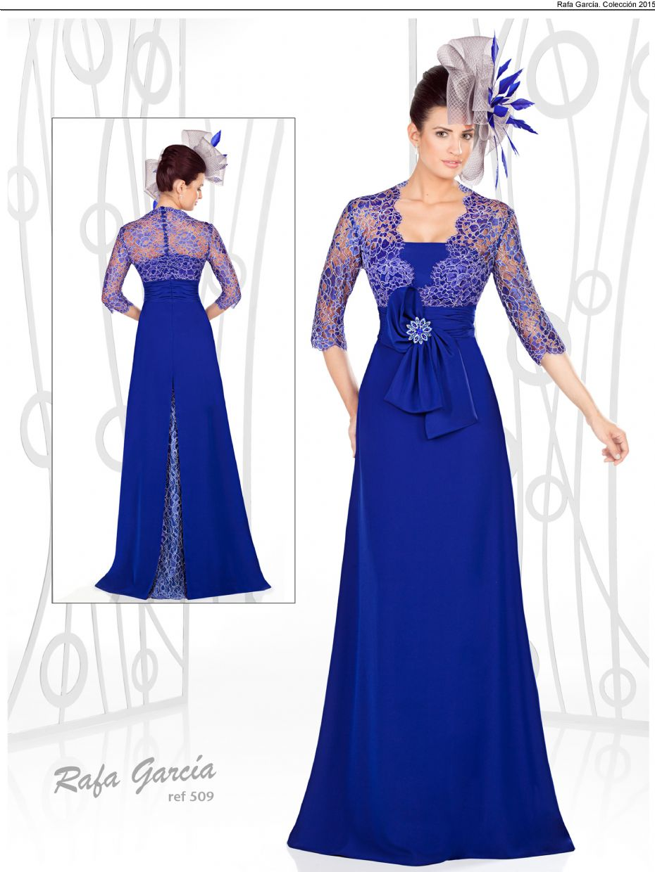 vestido azul gasa