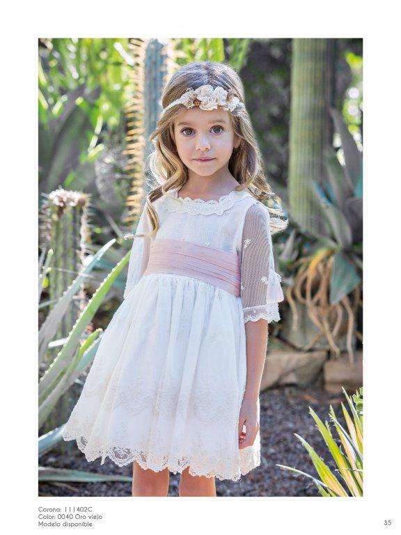 Vestido ceremonia niña falda bordada