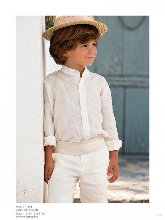 Conjunto ceremonia niño en color beige