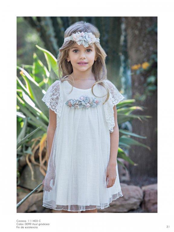 Vestido niña estilo ibicenco romántico