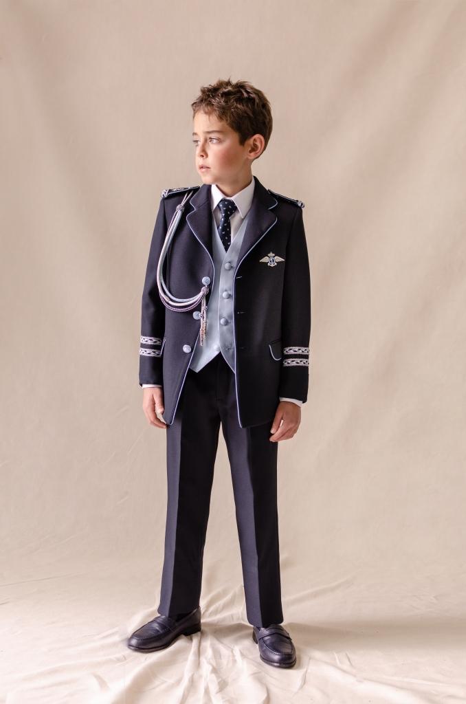 traje almirante marino azul