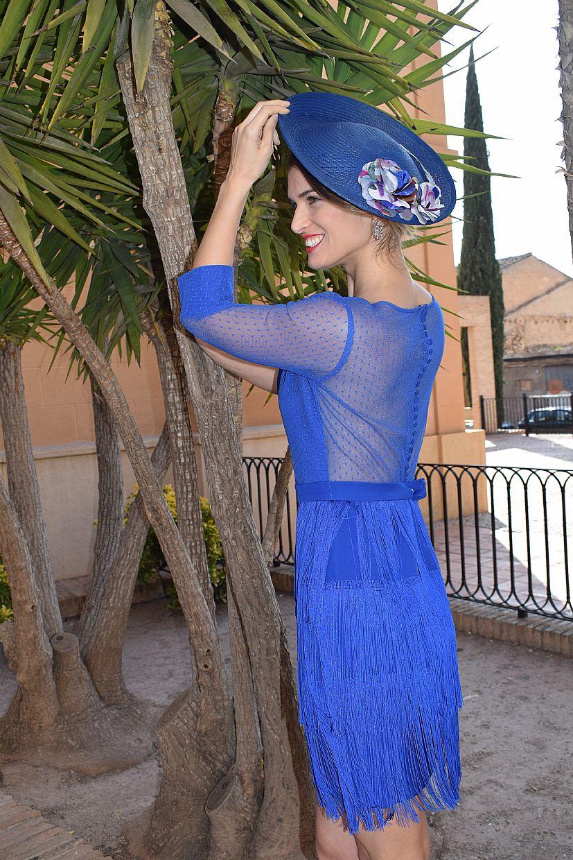 Vestido con flecos azul eléctrico - Foto 1