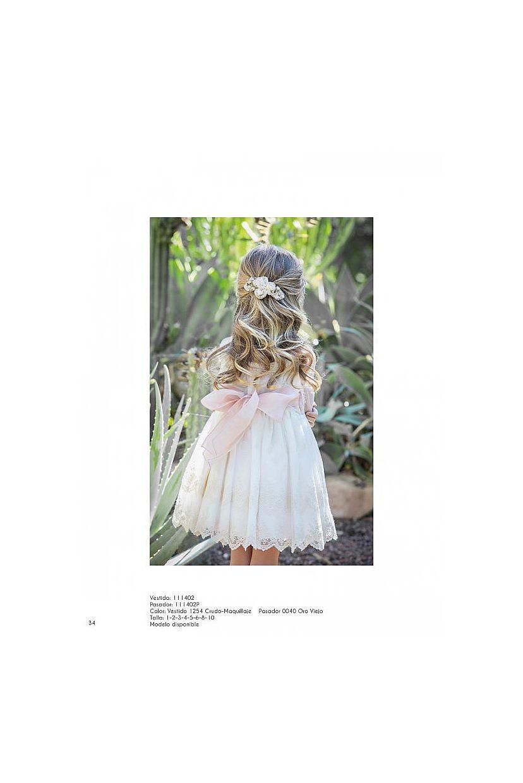 Vestido ceremonia niña falda bordada - Foto 1