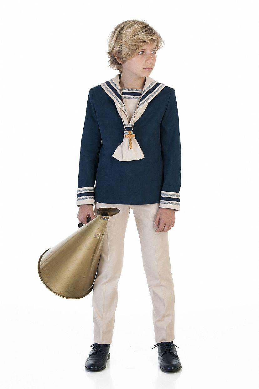 Producto: Traje de marinero en color azul marino y beig