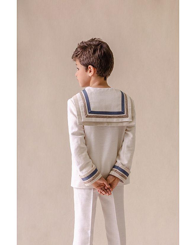 traje marinero lino blanco  - Foto 1