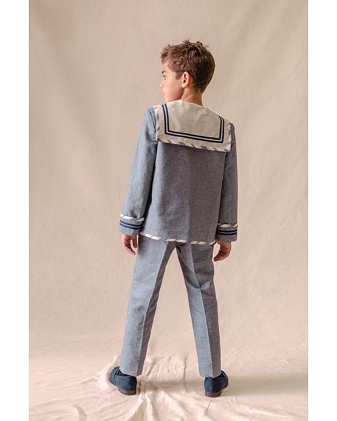 traje marinero lino grisáceo  - Foto 1