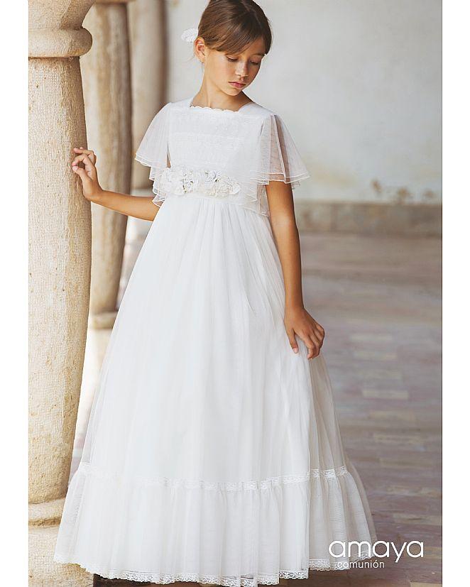 Producto: Vestido Comunión Amaya estilo romántico con mangas