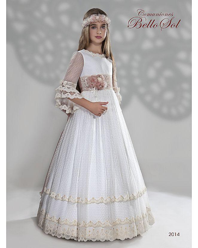 Producto: Vestido comunión manga francesa blonda