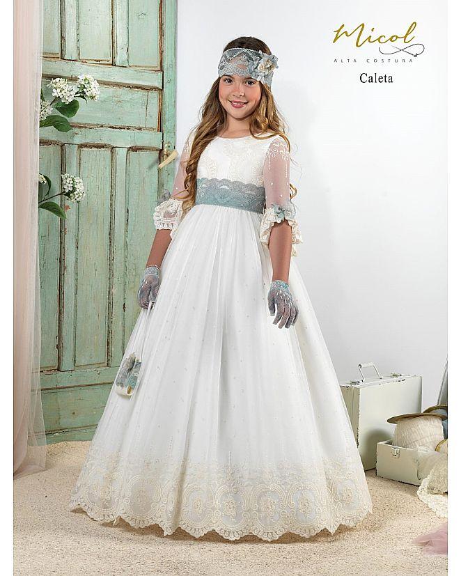 Vestido Comunión Micol Caleta - Foto 1
