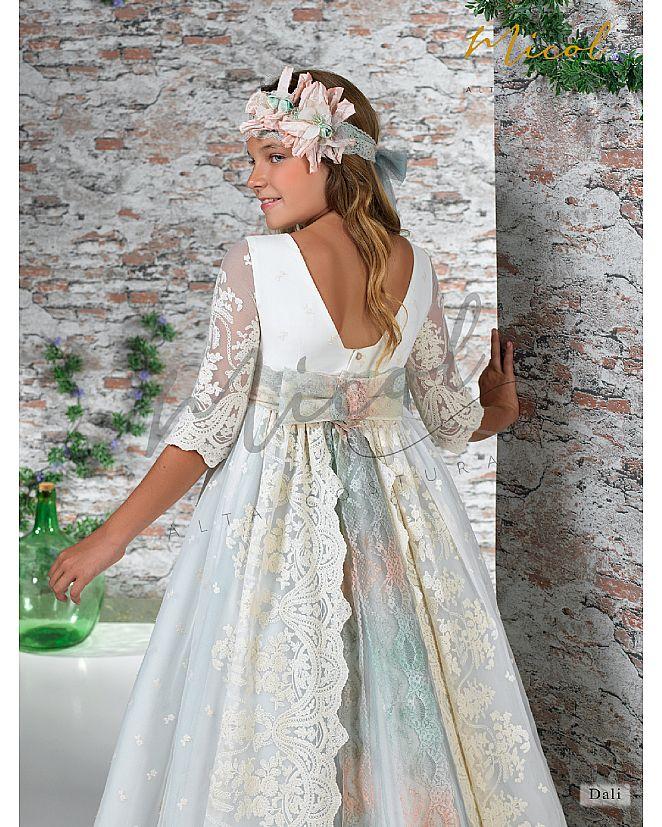 vestido de comunión con sobrefalda - Foto 1