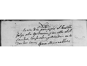 """""""Sin procesiones en 1804 y 1805 por una epidemia de fiebre amarilla"""""""