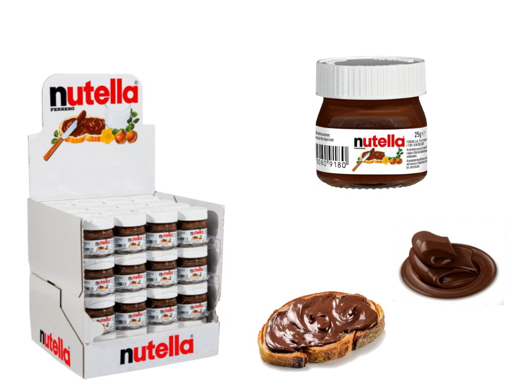 Bote mini de nutella 25 gr.