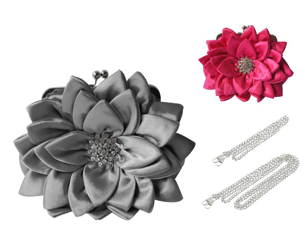 Bolso de fiesta flor (23x20 cm.)