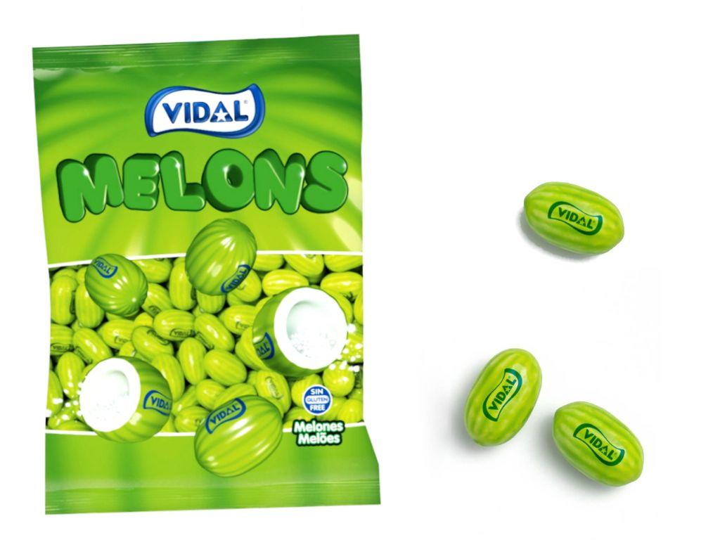 Chicles melones / frambuesas Vidal (250 unds.)