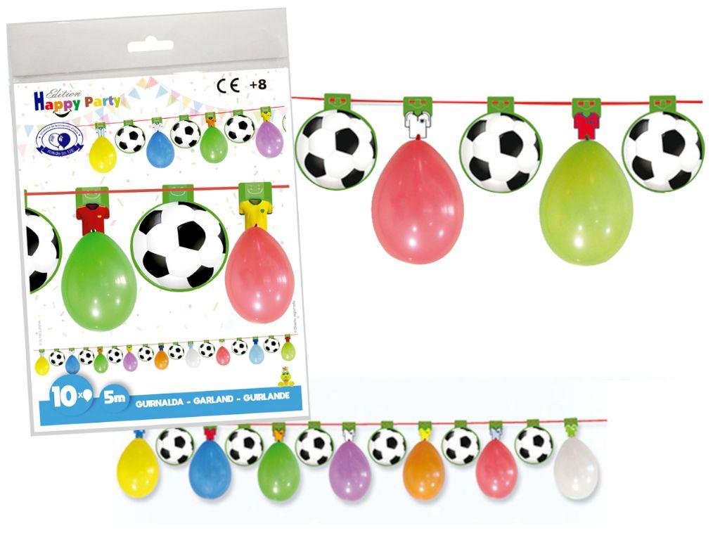 Guirnalda globos fútbol 5 mts.