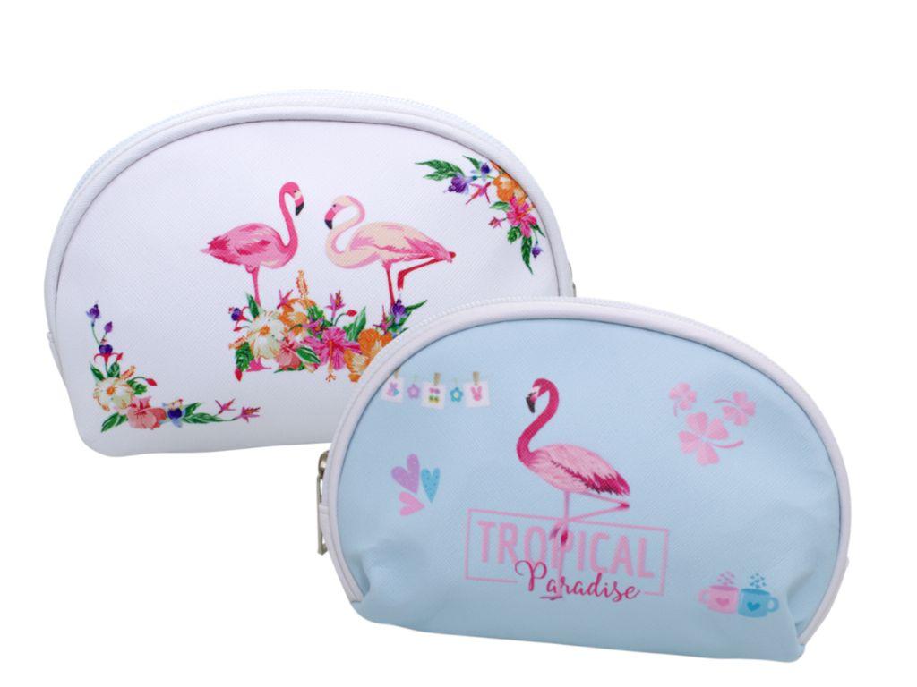 Neceser ovalado flamencos (17x13 cm.)