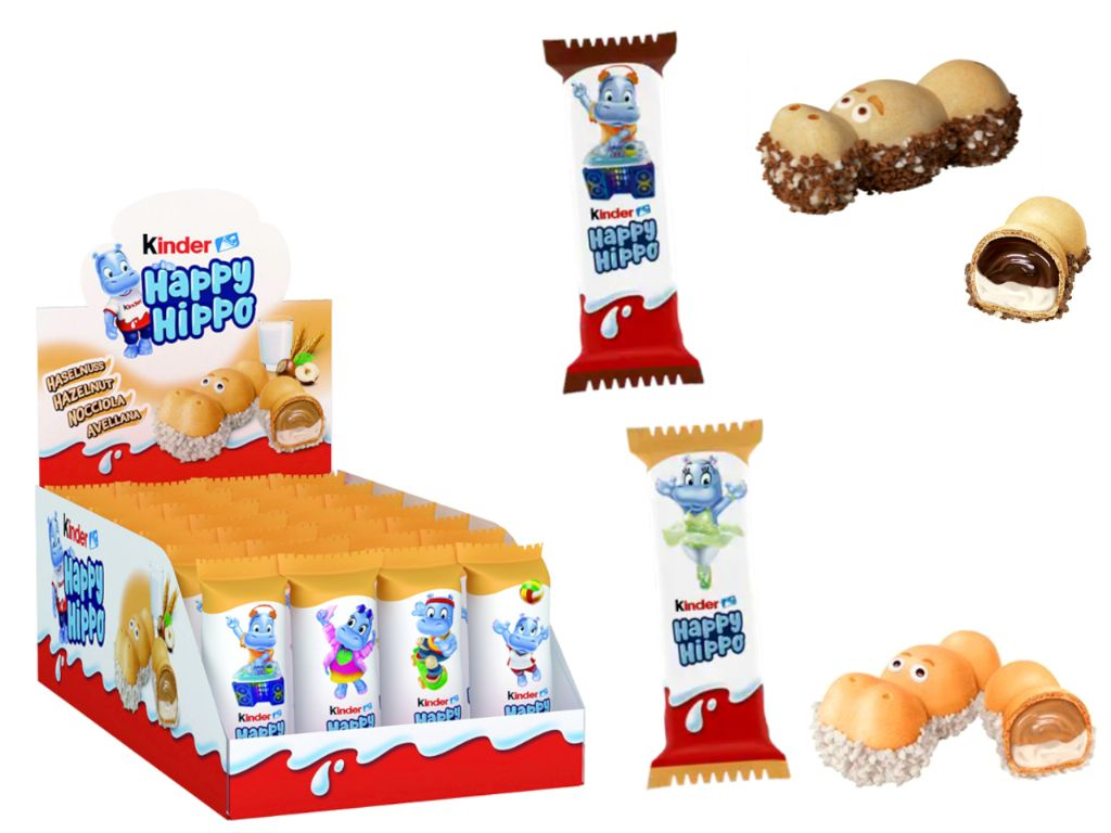 Kinder happy hippo 20,7 gr. (28 unds.)