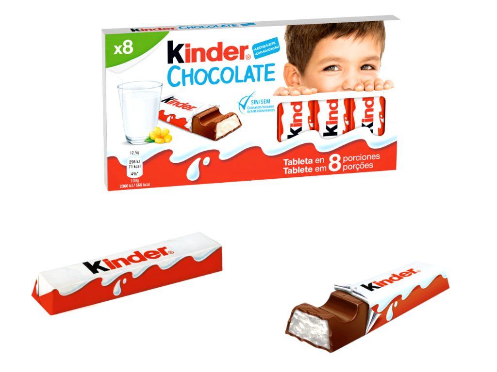 Kinder chocolate 12,5 gr. (8 unds.)