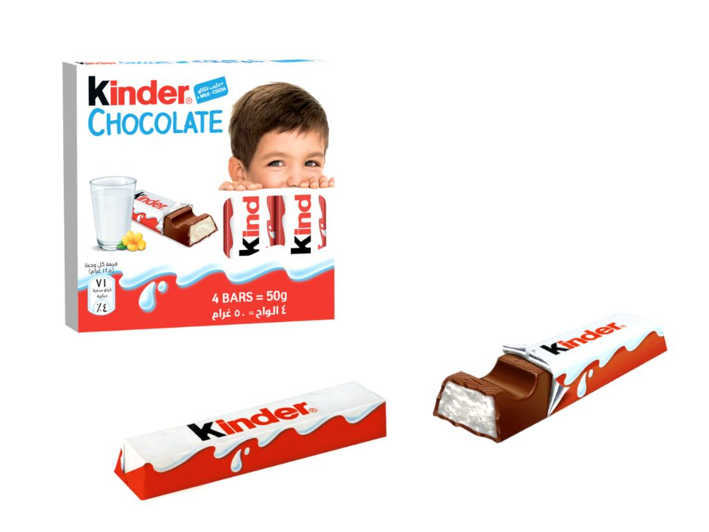 Kinder chocolate 12,5 gr. (4 unds.)