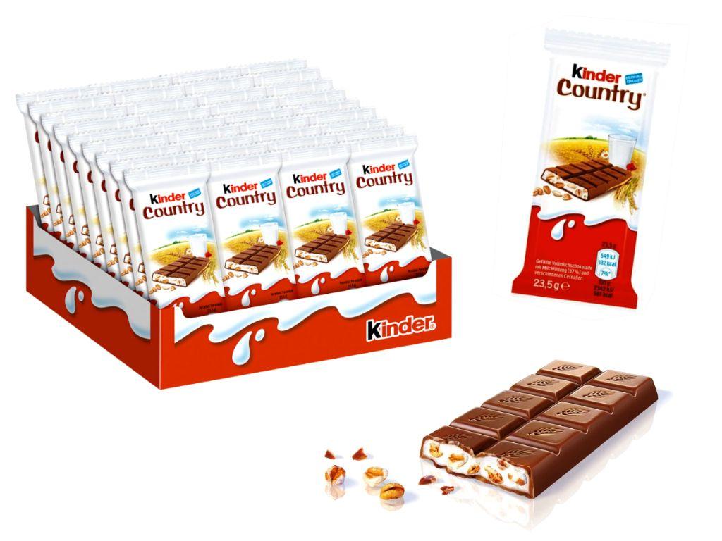 Kinder country chocolatina 23,5 gr. (40 unds.)