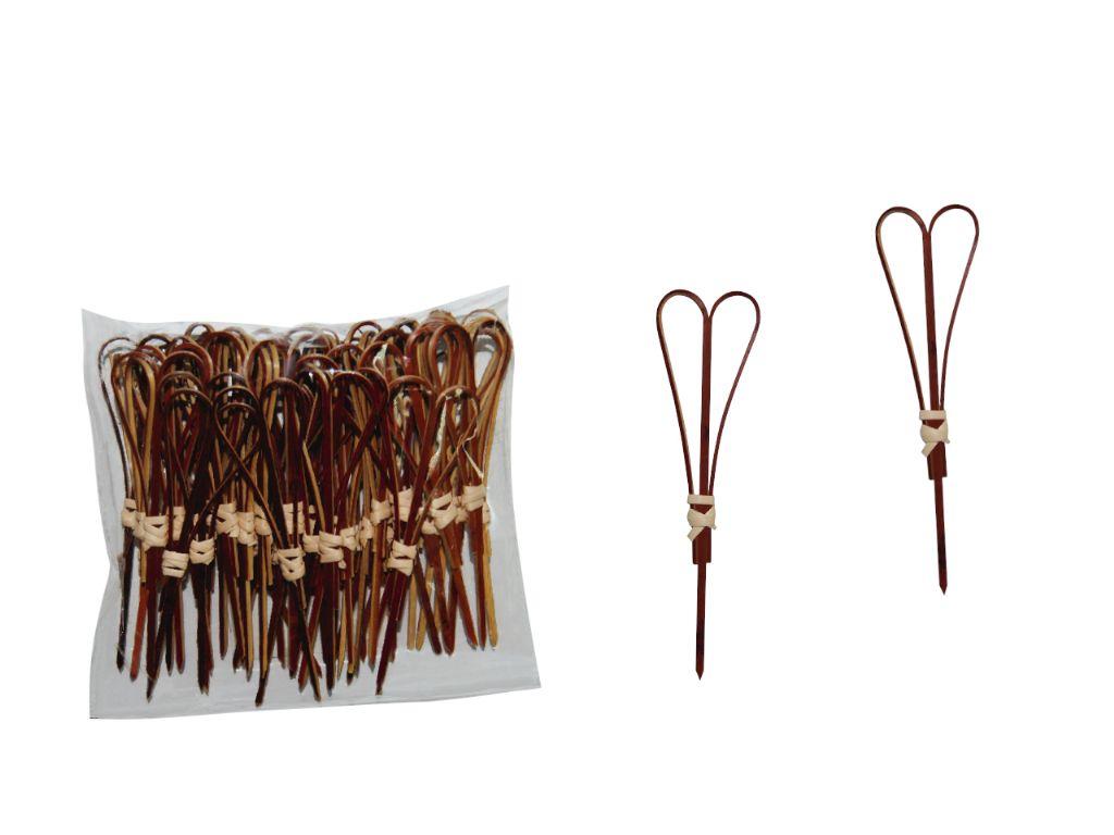 Pinchos de madera corazón 10 cm. (50 unds.)