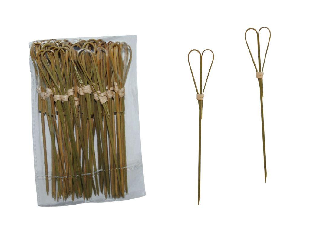 Pinchos de madera corazón 15 cm. (50 unds.)