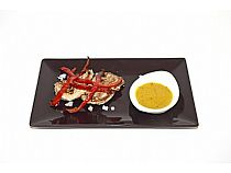 Tánagas Bar<br>Solomillo con salsa de miel y mostaza<br>Ctra. N-340, km.614<br>*Cerrado: Domingos tarde