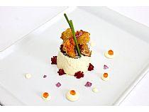 Platea Loungebar<br>Pudding de marisco con crujiente de gamba y mayonesa de lima<br> Plaza Balsa Vieja<br>*Cerrado: Noches(lunes, martes, miércoles y domingo)