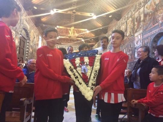 Ofrenda floral C.F. Bases Olimpico 2018