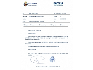 Convocatoria Villarreal CF SAD