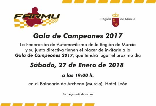 Gala de Campeones FARMU 2018