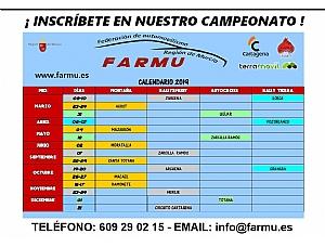 Inscripciones campeonatos FARMU 2019