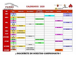Calendario oficial FARMU 2020