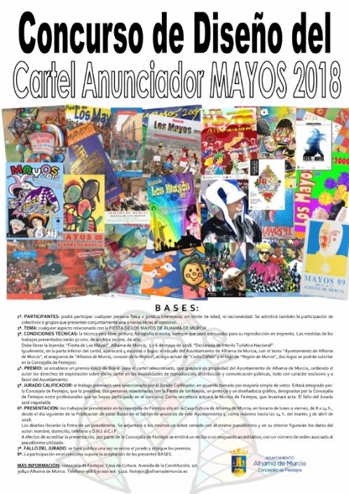 Bases del cartel anunciador de la fiesta de Los Mayos 2018