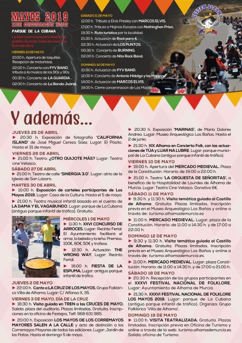 Fiesta de Los Mayos 2019: programa de actividades