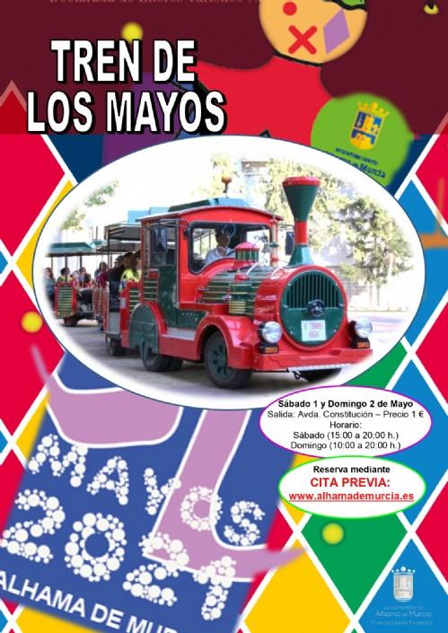 Reserva online tu viaje en el tren de Los Mayos 2021