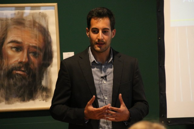 Conferencia de Raúl López en el Museo Arqueológico Los Baños