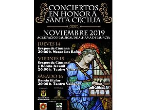 Conciertos en honor a Santa Cecilia 2019 de la Agrupación Musical de Alhama