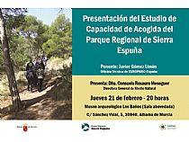 Presentación del Estudio de Capacidad de Acogida del Parque Regional de Sierra Espuña. - Foto 1