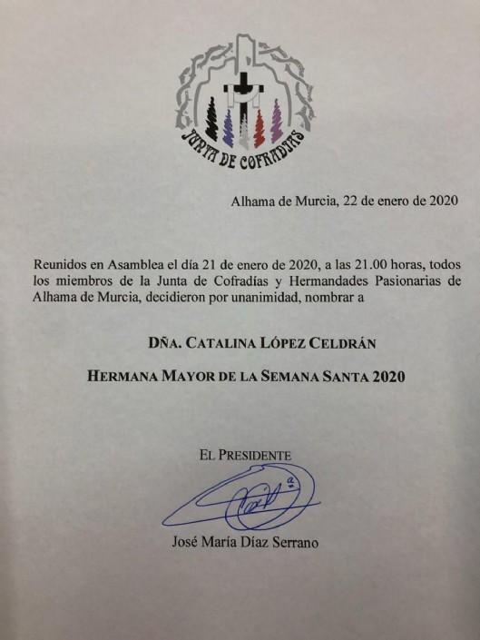 César Portillo, Procesionista del Año y Catalina López, HªMayor