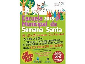 Abierto el plazo de inscripción para la Escuela Municipal de Semana Santa 2018