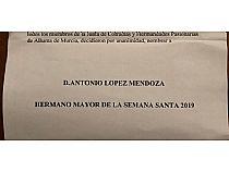 Antonio López Mendoza, Hermano Mayor de la Semana Santa 2019 - Foto 1